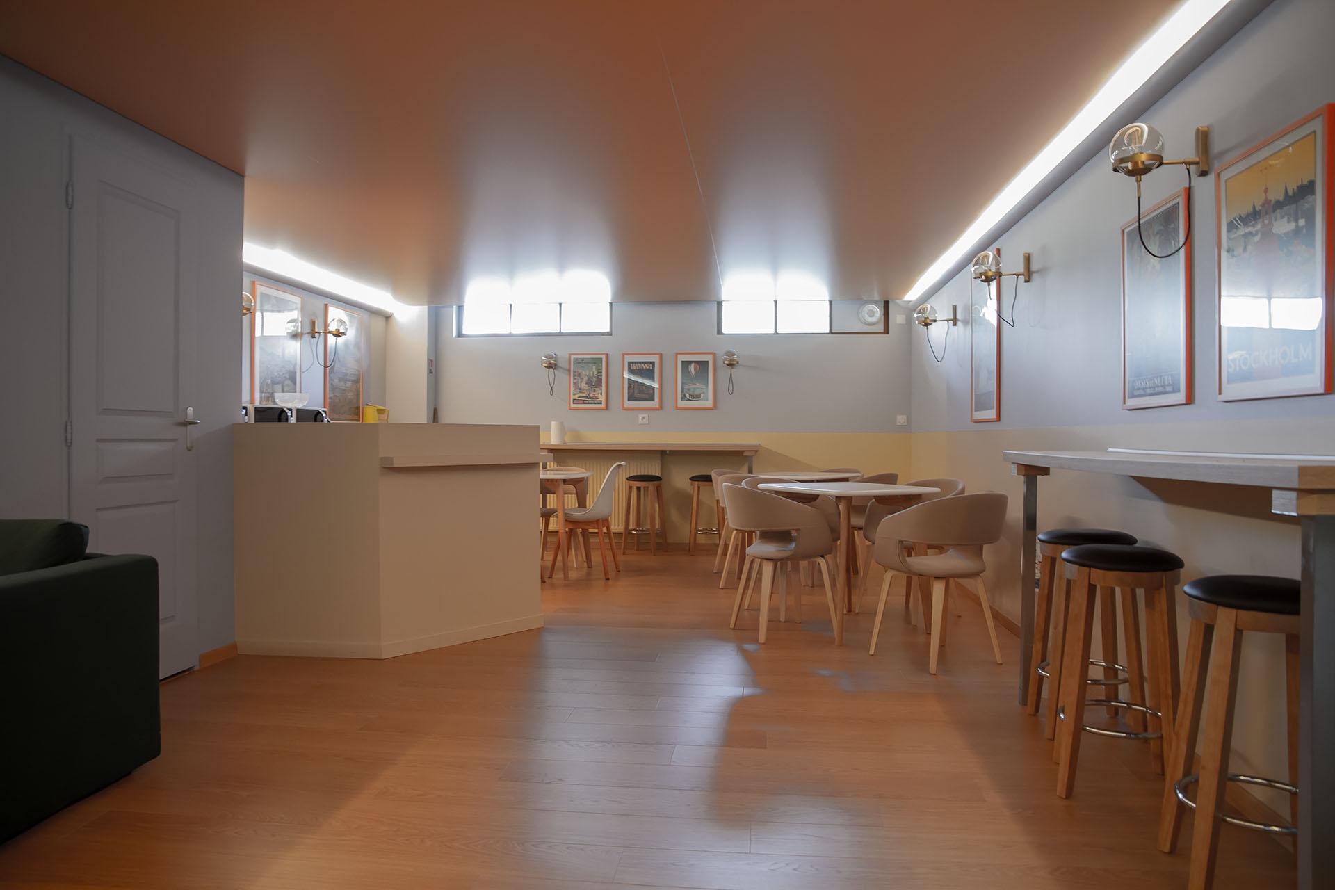 Le Lounge à la CMA37 - Création La Fabrique Geneviève Naudin