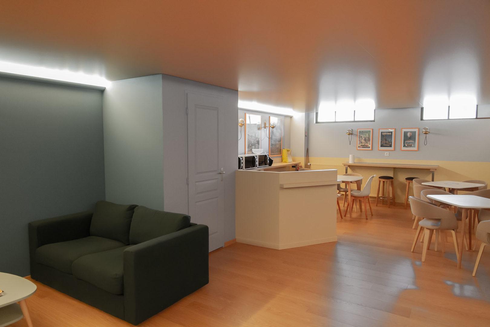 Le Lounge retaurant - Création La Fabrique Geneviève Naudin