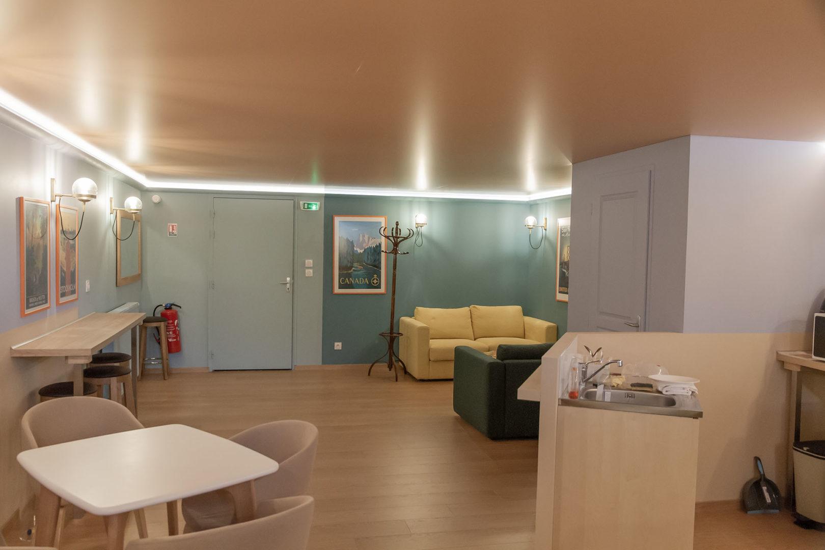 Le Lounge salle de repos - Création La Fabrique Geneviève Naudin