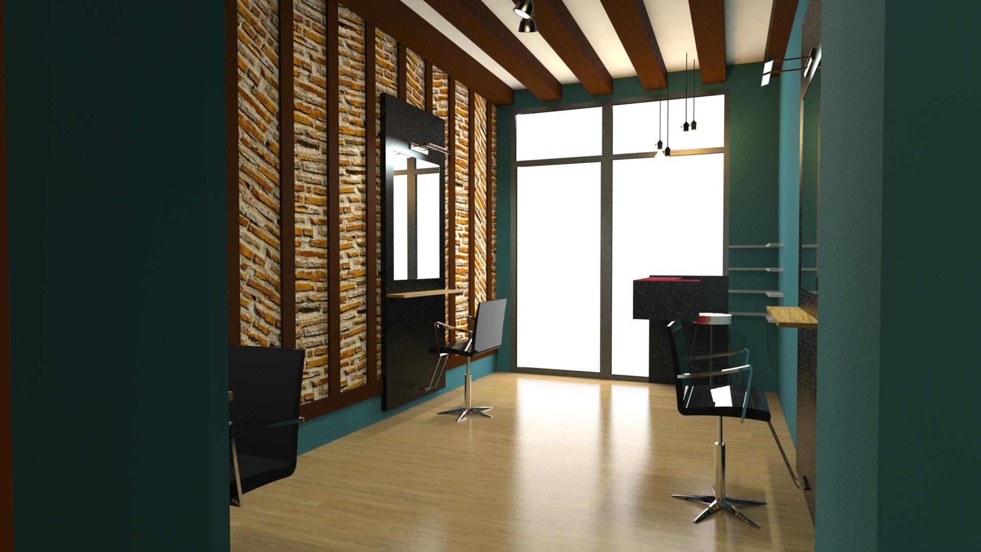 Un salon de coiffure réalisé par la Fabrique